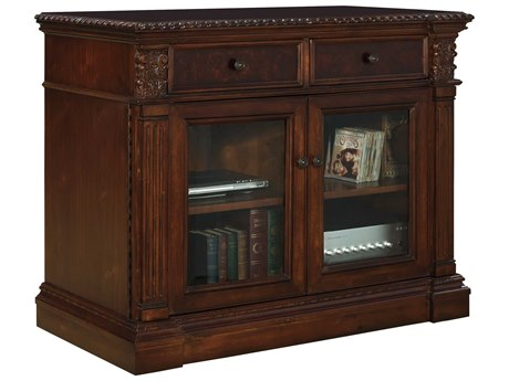 Hekman Entertainment Stand in Old World Walnut Burl