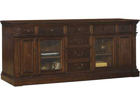 Hekman Entertainment Credenza in Old World Walnut Burl
