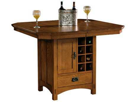 Hekman Arts & Crafts 48 x 44 Rectangular Pub Storage Table