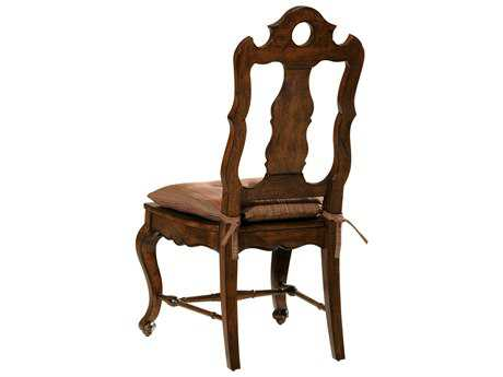 Hekman Rue De Bac Dining Side Chair with Tie-On Seat Pad