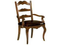 Hekman Rue De Bac Leather Seat Dining Arm Chair