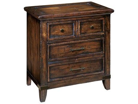 Hekman Harbor Springs Rustic Hardwood, Walnut & Oak Two Drawer Night Stand