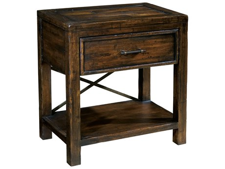 Hekman Harbor Springs Rustic Hardwood One Drawer Night Stand