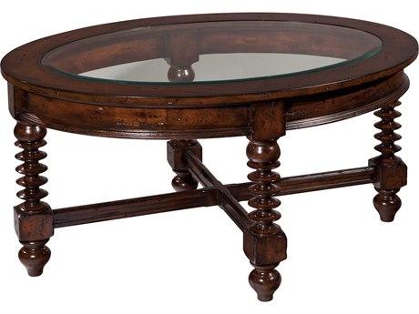 Hekman Canyon Retreat Oval Glass Coffee Table