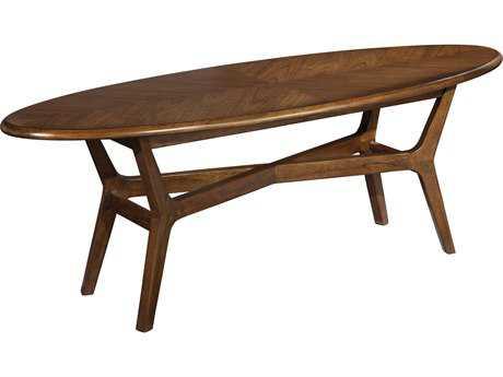 Hekman Mid Century Modern Walnut Surfboard Coffee Table