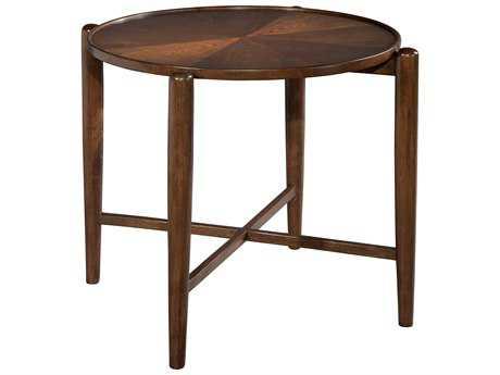 Hekman Mid Century Modern Walnut Century Modern Round Side Table
