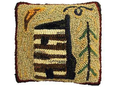 Homespice Decor Pillows Cabin Beige 12'' Square Pillow
