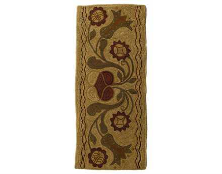 Homespice Decor Hooked Rectangular Beige Area Rug