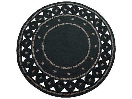Homespice Decor Jute Braided Texas Black 6' Round Area Rug
