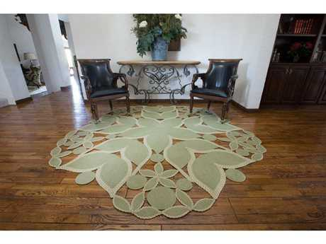 Homespice Decor Botanica Serenity Green 7'6'' Round Area Rug