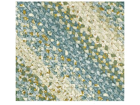 Homespice Decor Cotton Braided Oval Teal Area Rug