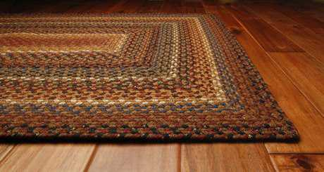 Homespice Decor Cotton Braided Rectangular Brown Area Rug