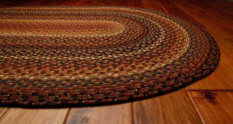 Homespice Decor Cotton Braided Oval Brown Area Rug