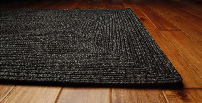 Homespice Decor Ultra Durable Braided Rectangular Black