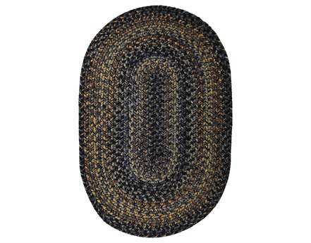Homespice Decor Ultra Durable Braided Oval Black Area Rug