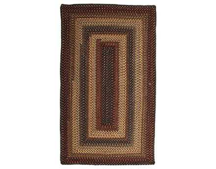 Homespice Decor Wool Braid Rectangular Beige Area Rug