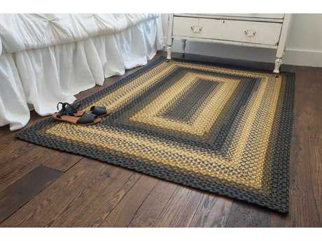 Homespice Decor Cotton Braided Chapel Hill Grey Rectangular Area Rug