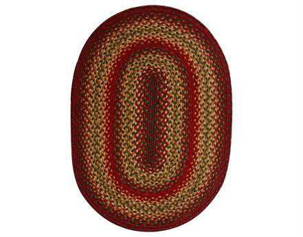 Homespice Decor Jute Braided Oval Brown Area Rug