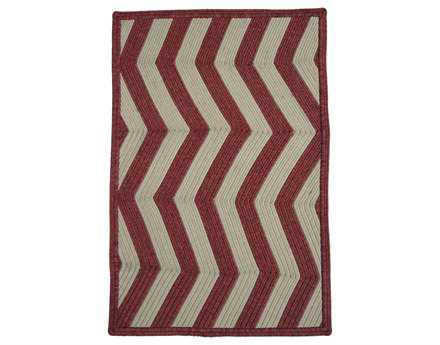 Homespice Decor Ultra Durable Chevron Braided Rectangular Red Area Rug