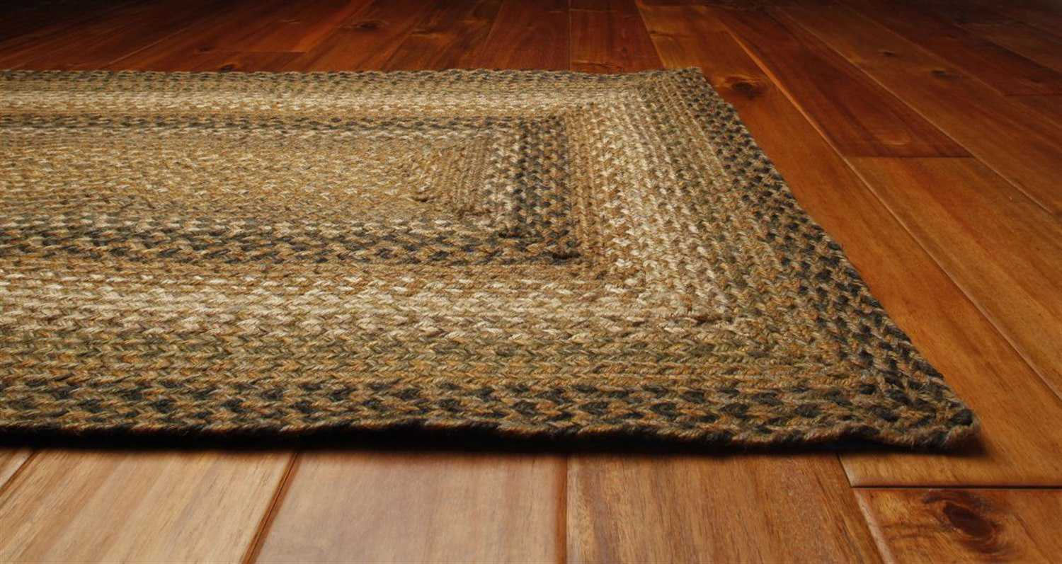 Homespice decor jute braided rectangular brown area rug for International home decor rugs