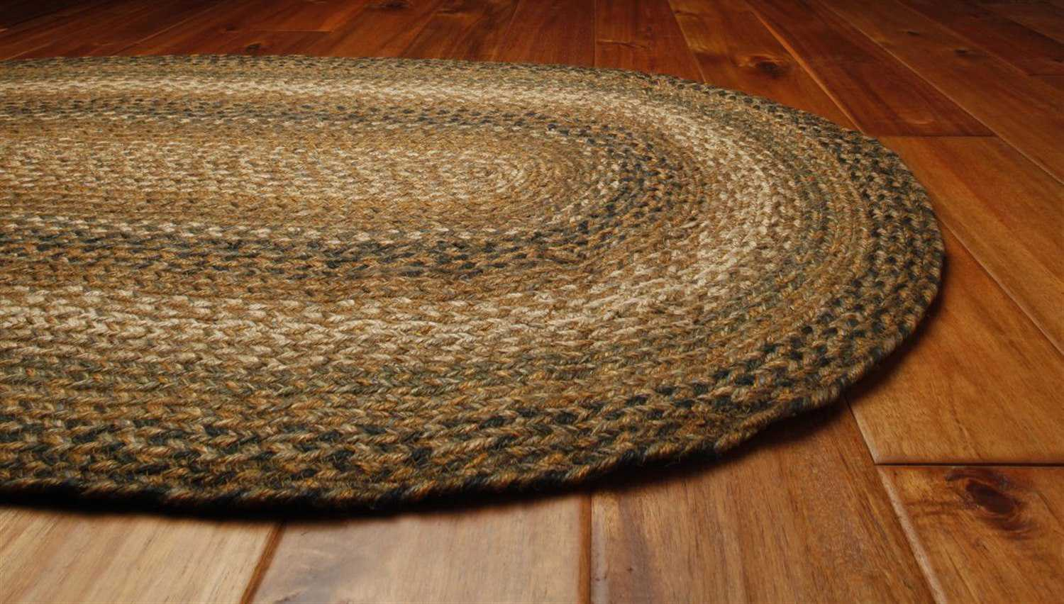 Homespice Decor Jute Braided Oval Brown Area Rug Hocoffeeova