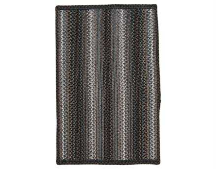 Homespice Decor Ultra Durable Slims Braided Rectangular Black Area Rug
