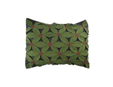 Homespice Decor Small Field Of Green Pillow