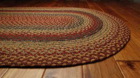 Homespice Decor Cotton Braided Oval Red Area Rug