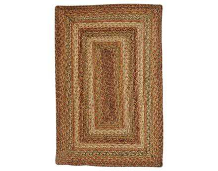 Homespice Decor Jute Braided Harvest Rectangular Red Area Rug