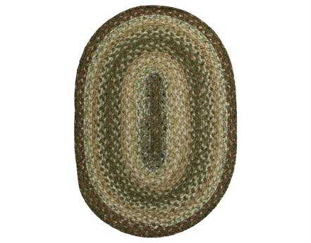 Homespice Decor Cotton Braided Oval Beige Area Rug