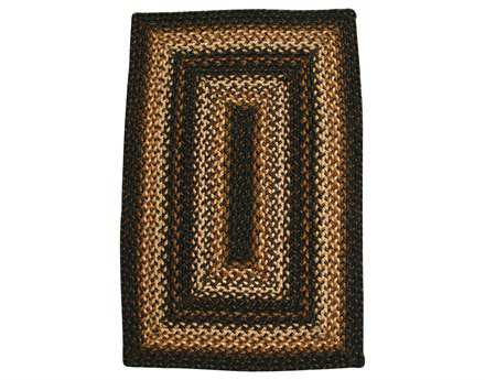 Homespice Decor Jute Braided Rectangular Black Area Rug