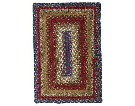 Homespice Decor Cotton Braided lti-Size Rectangular Red Area Rug