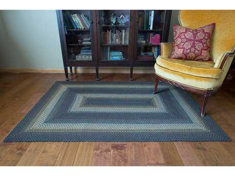 Homespice Decor Ultra Wool Braided Mckinley Black Rectangular Area Rug