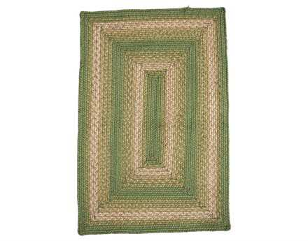 Homespice Decor Jute Braided Green Area Rug