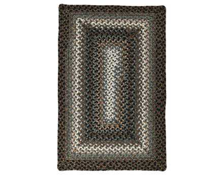 Homespice Decor Ultra Durable Braided Rectangular Black Area Rug