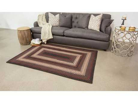 Homespice Decor Ultra Durable Braided Montgomery Black Rectangular Area Rug