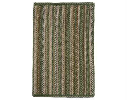 Homespice Decor Ultra Durable Slims Braided Rectangular Green Area Rug