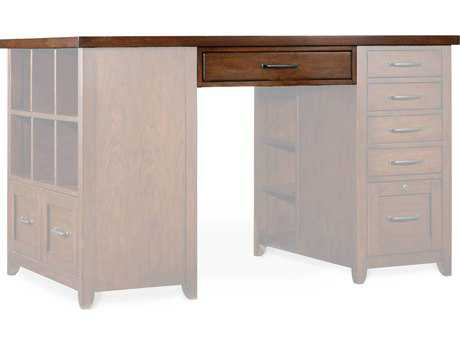 Hooker Furniture Wendover Medium Wood 62''L x 36''W Rectangular Utility Desk Top