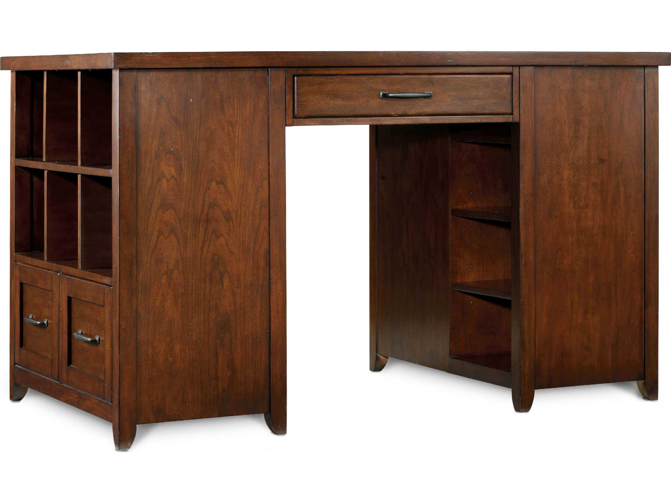 Superieur ... Hooker Furniture Wendover Distressed Cherry 62u0027u0027L X 36u0027u0027W Rectangular  Computer ...