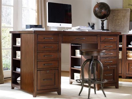 Hooker Furniture Wendover Distressed Cherry 62''L x 36''W Rectangular Utility Computer Desk