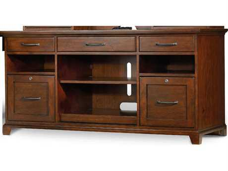 Hooker Furniture Wendover Distressed Cherry 60''L x 24''W Rectangular Computer Credenza