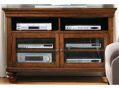 Hooker Furniture Wendover Distressed Cherry 44''L x 21''W Rectangular Entertainment Console