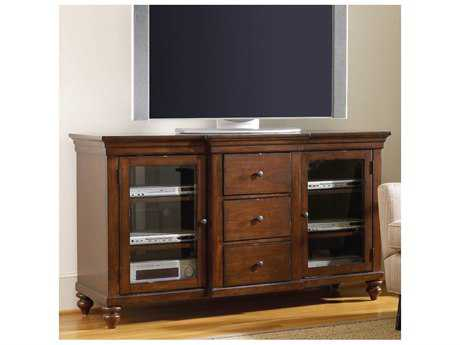 Hooker Furniture Wendover Distressed Cherry 64''L x 22''W Rectangular Entertainment Console