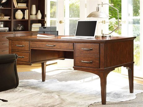 Hooker Furniture Wendover Distressed Cherry 64''L x 32''W Rectangular Writing Desk
