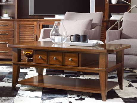 Hooker Furniture Wendover Physically Distressed Cherry 48''L x 28''W Rectangular Cocktail Table