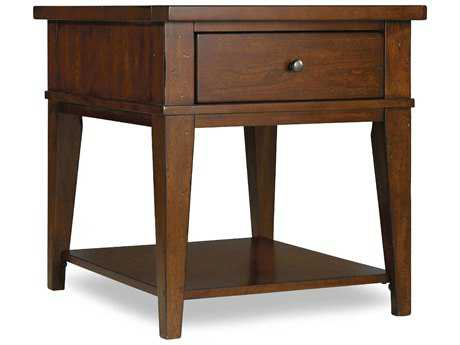 Hooker Furniture Wendover Distressed Cherry 24''L x 28''W Rectangular End Table