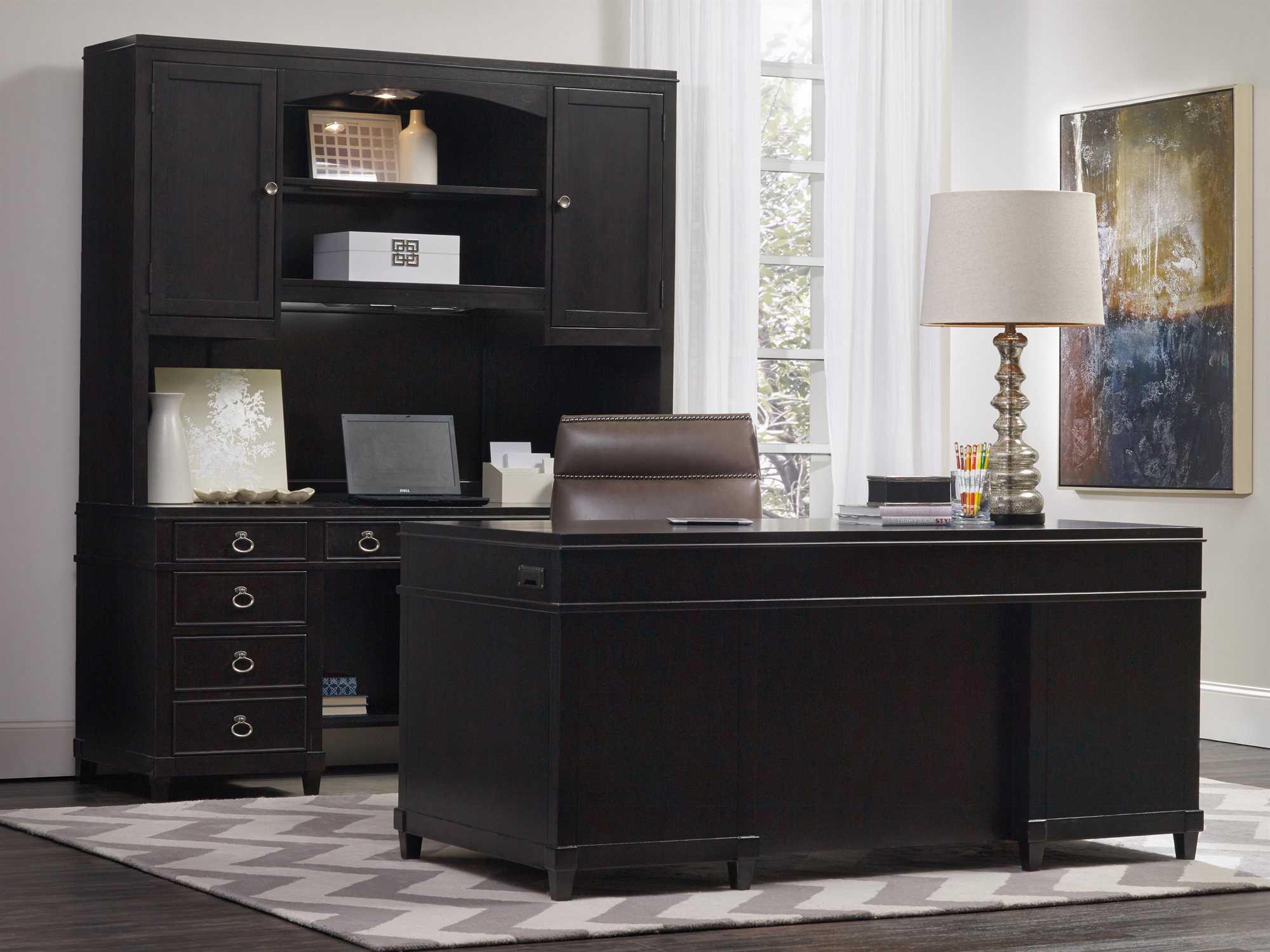 Hooker Furniture Kendrick Dark Wood 66 L X 32 W