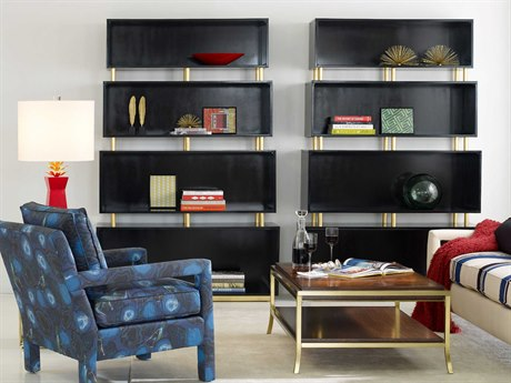 Hooker Furniture Cynthia Rowley Black Skyline Bookcase