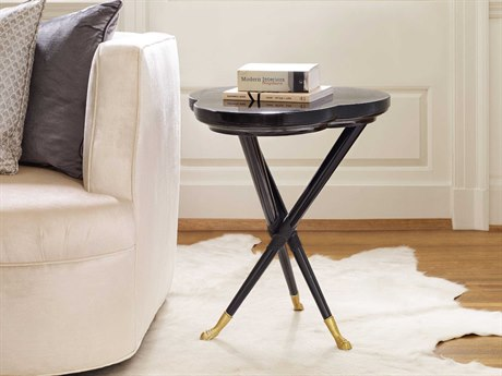 Hooker Furniture Cynthia Rowley Black 21''L x 20''W Lucky Clover Accent End Table