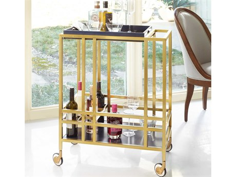 Hooker Furniture Cynthia Rowley Gold When in Rome Accent Bar Cart